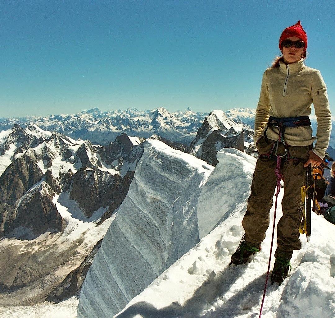 Au sommet du Mont Blanc du Tacul - Massif du Mont Blanc en France