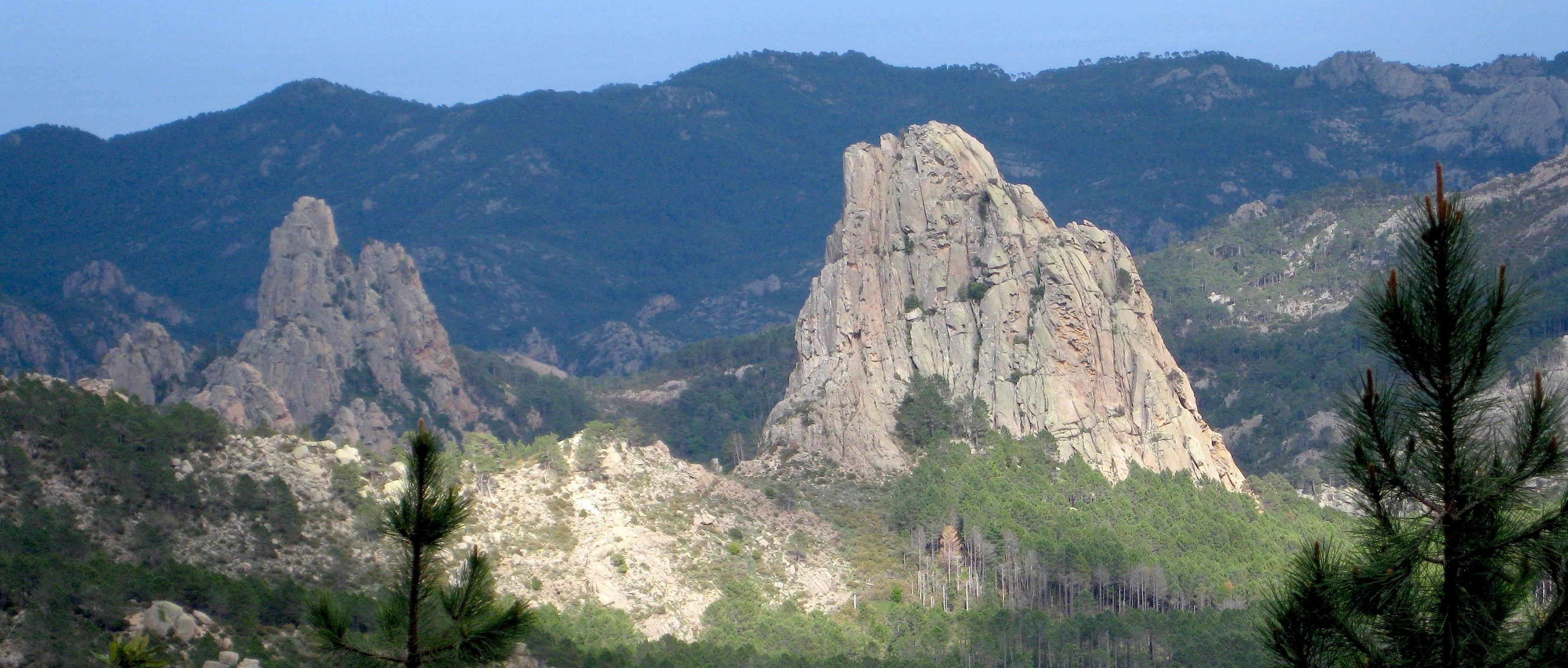 Au-dessus du refuge de Paliri - massif de Bavedda