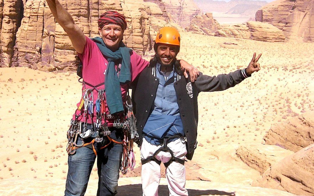 Mars 2017 – stage d'escalade de jeunes bédouins à Wadi Rum