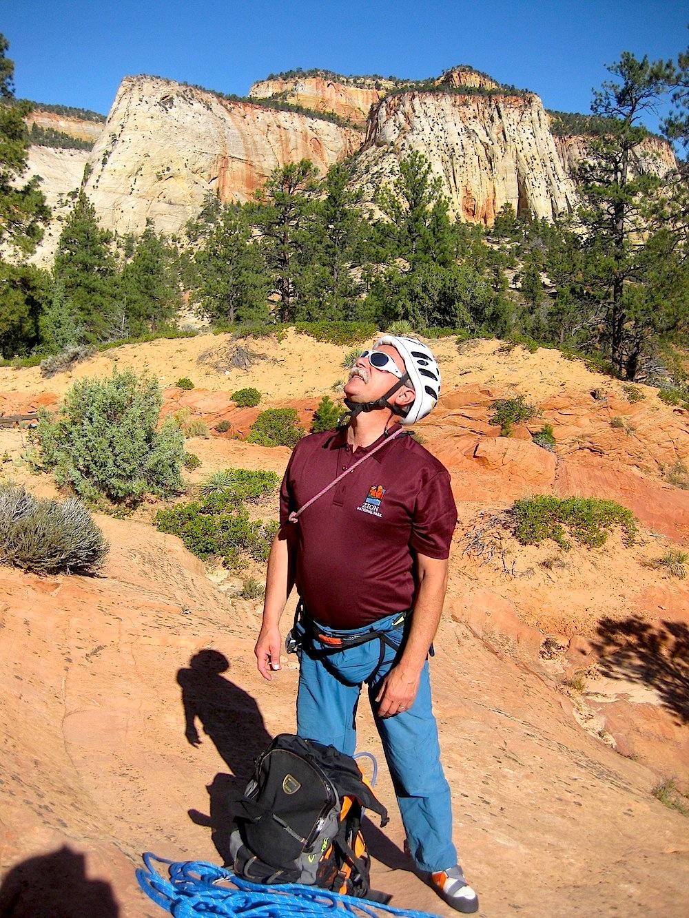 Approche de paroi à Zion National Park - Utah