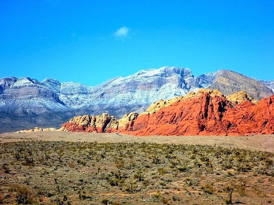 Le massif des Rod Rocks à deux pas de Las Vegas dans le Nevada