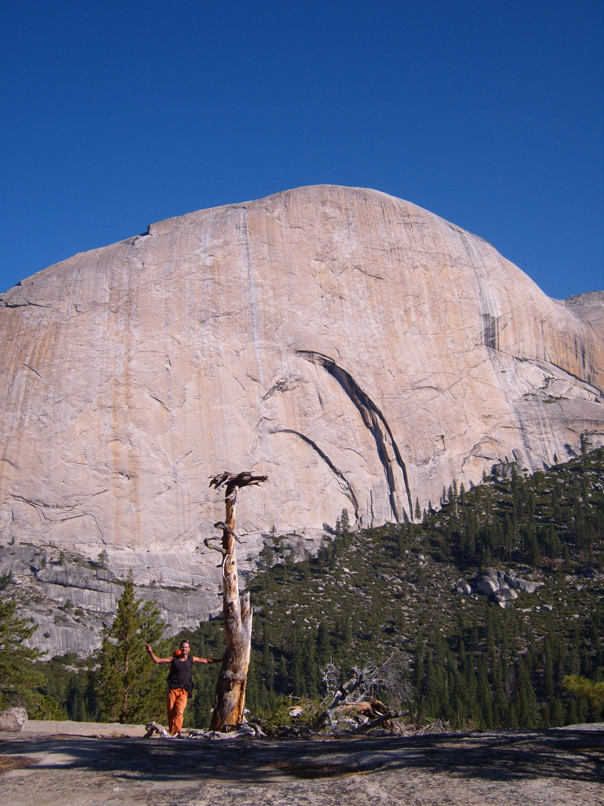 En montant vers le Half Dome depuis Little Yosemite