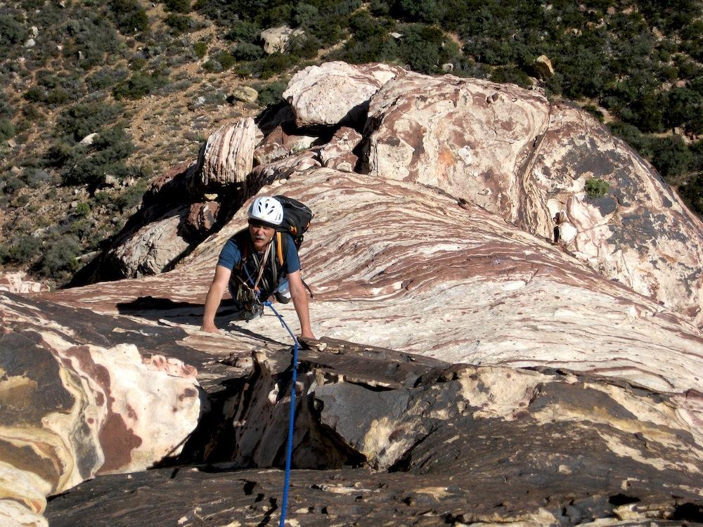 Grimpe dans les grès fantastiques de Red Rock Canyon à Las Vegas - Nevada