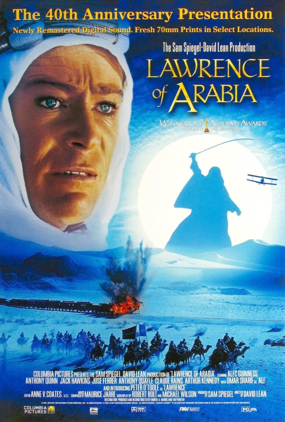 Une des nombreuses affiches du célèbre film - Lawrence d'Arabie