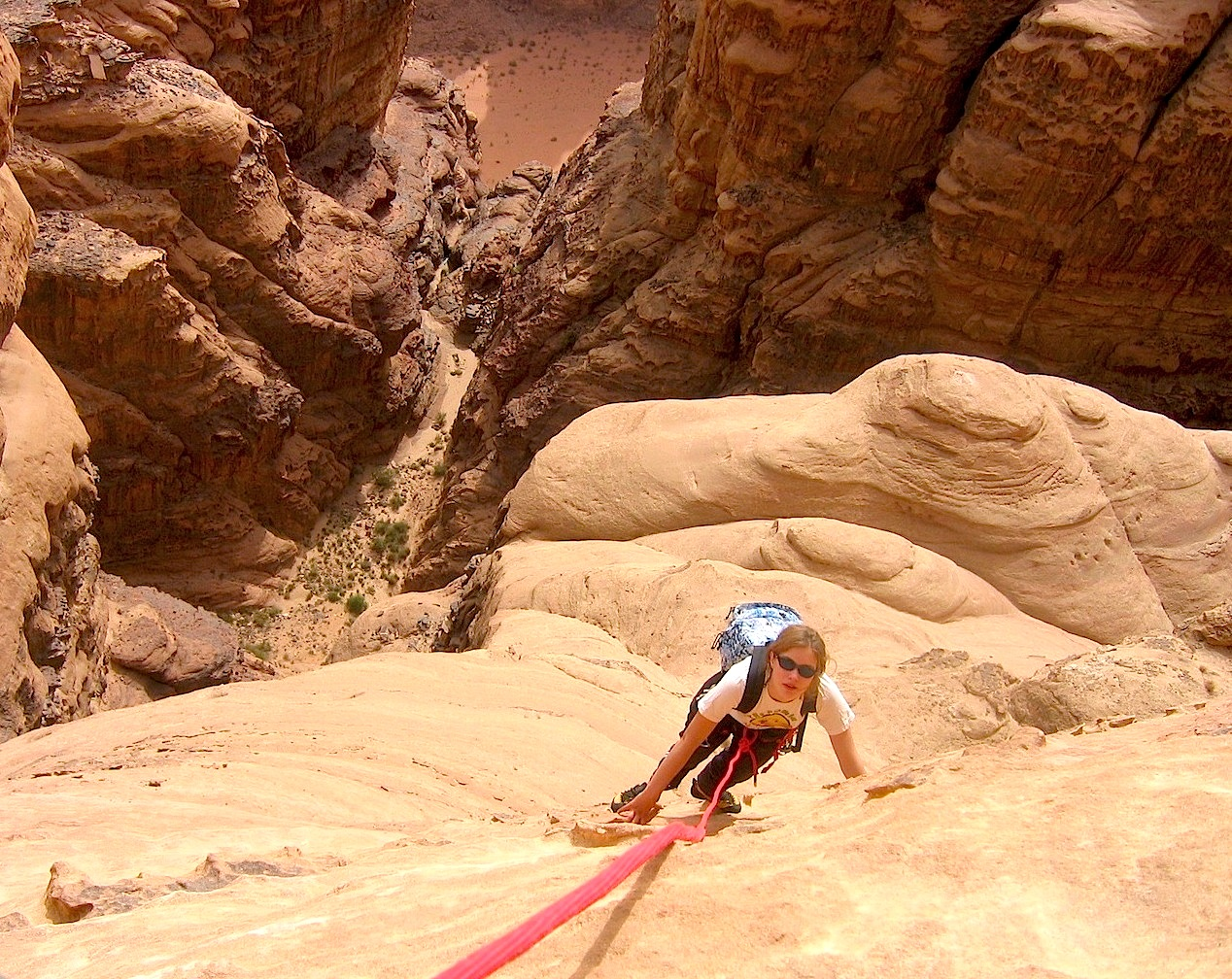"""C'est raide dans """"Badan Majnoun"""" au Jebel Um Ishrin..."""