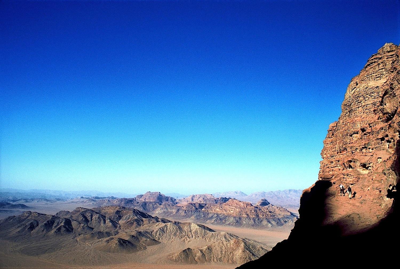 Dans une voie bédouine de Wadi Rum