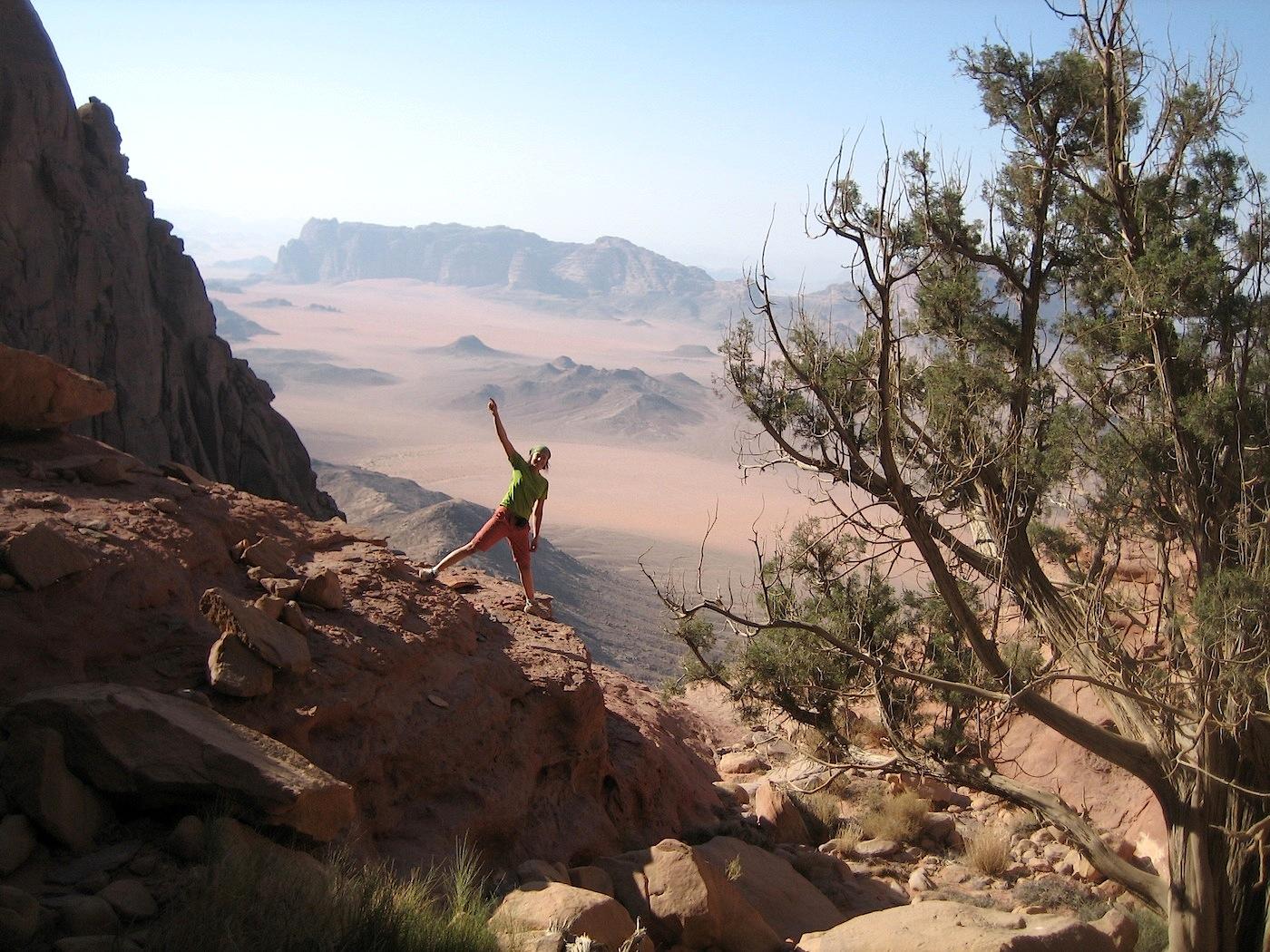 Dans Thamudic Route au Jebel Rum