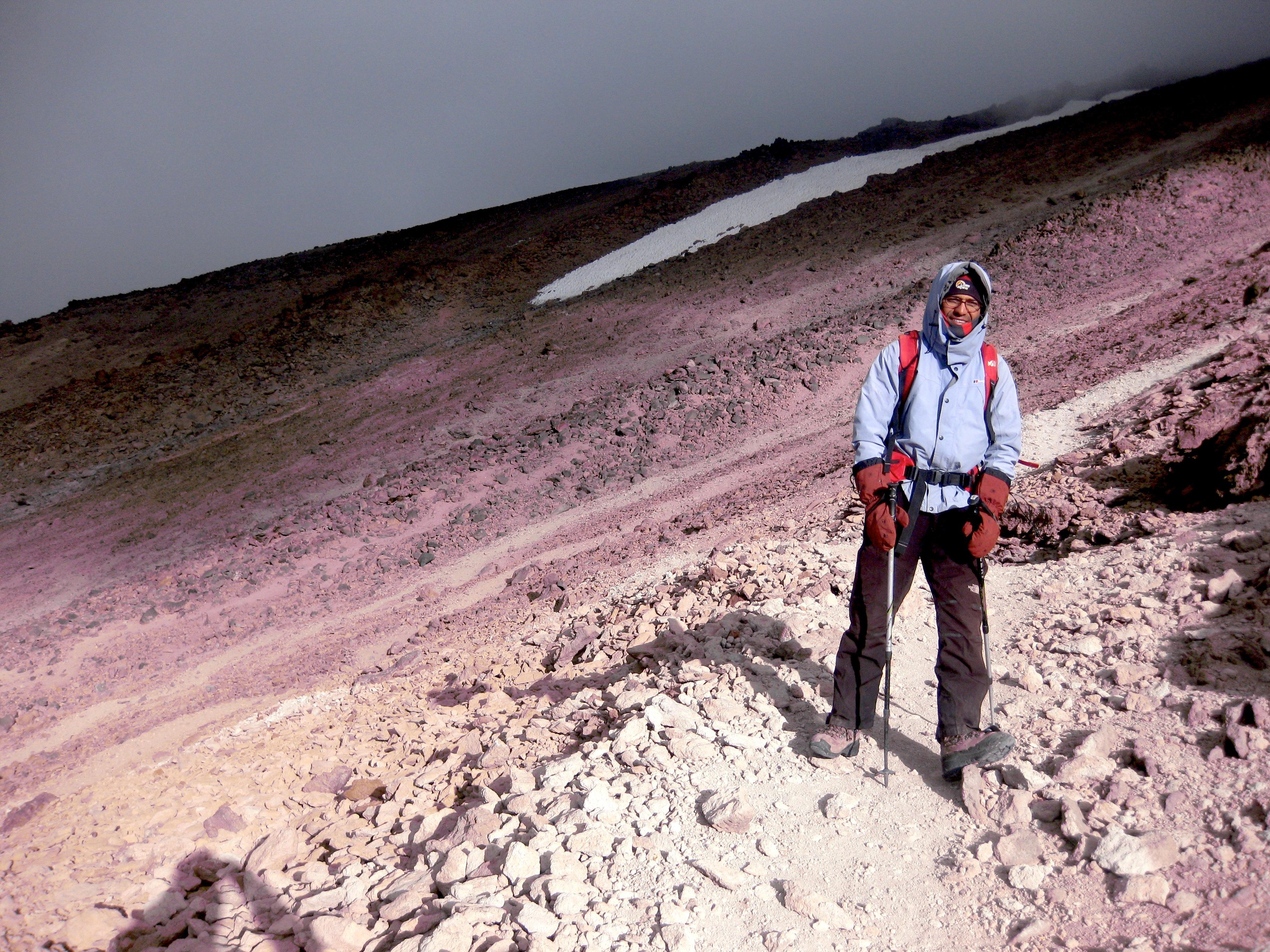 Farhad au Damavand, guide de montagne iranien originaire d'Alamut.
