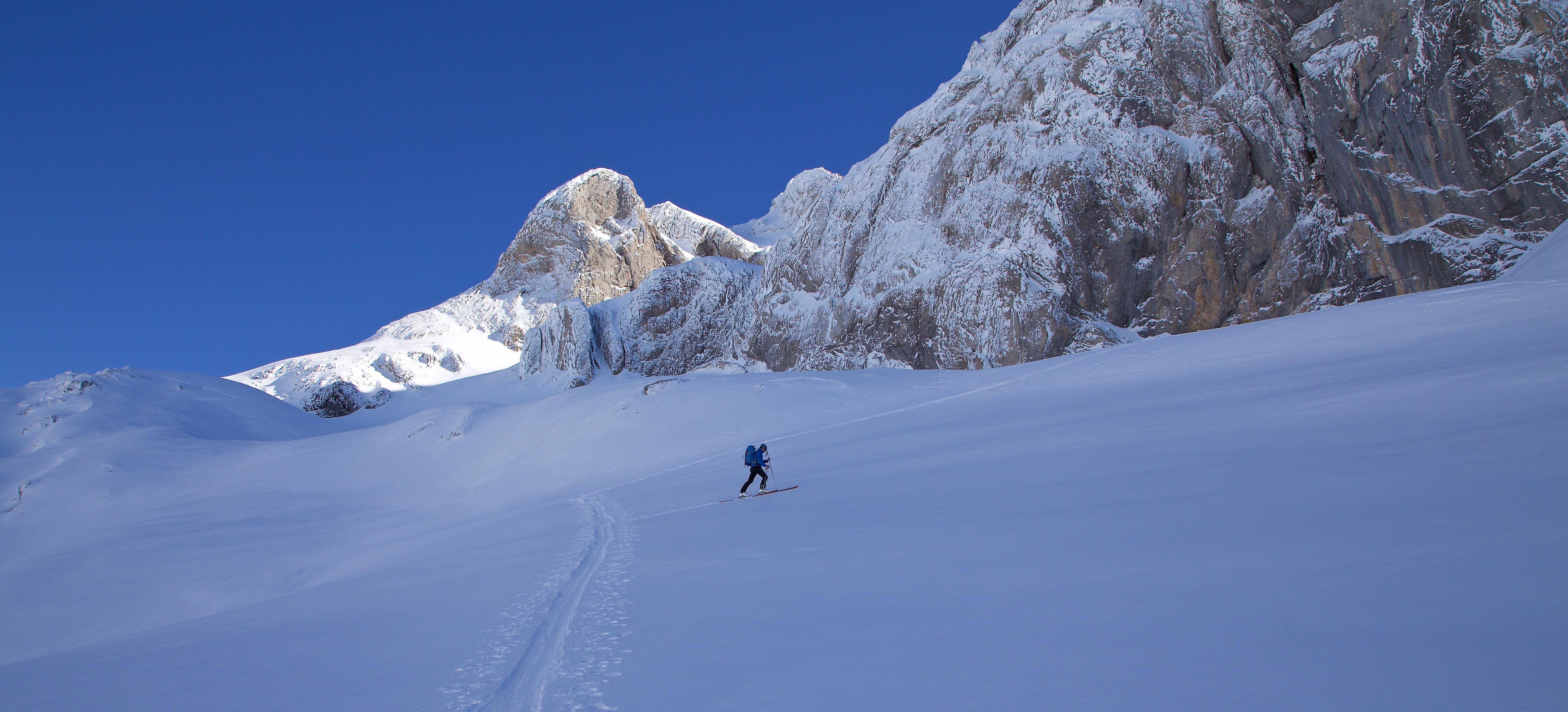 Ski de randonnée - Vallon de Bostan, Haute Savoie.