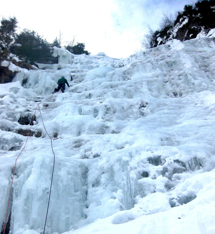 Cascade de la Colombière au Reposoir, en Haute Savoie