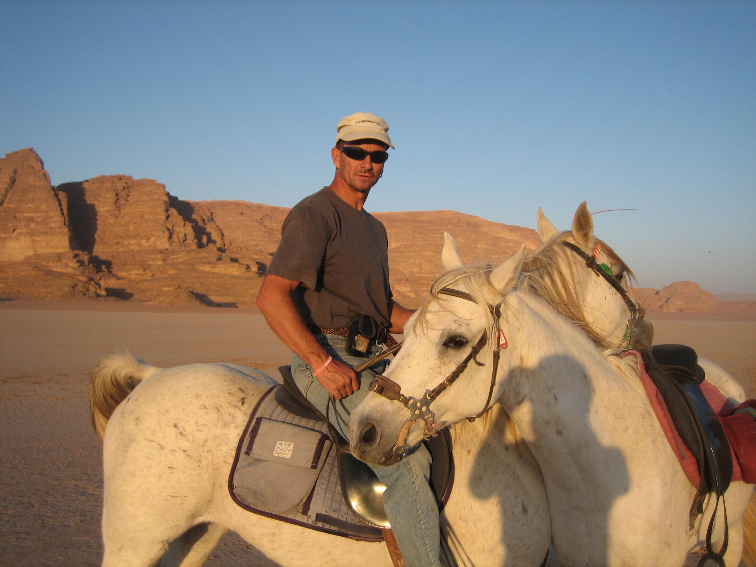 Avec mes chevaux Arabes dans le désert....d'Arabie !
